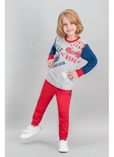 U.S. Polo Assn. U.S. Polo Assn Lisanslı Grimelanj Erkek Çocuk Pijama Takımı Gri